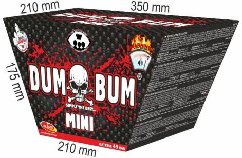 DumBum mini 49rán 25mm šikmý V+FAN