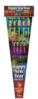 Happy New Year rakety 11ks /100cm/